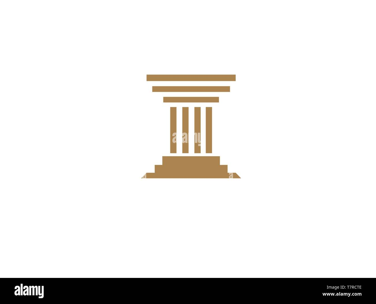 Law Building  Justice for logo design illustration - Stock Vector