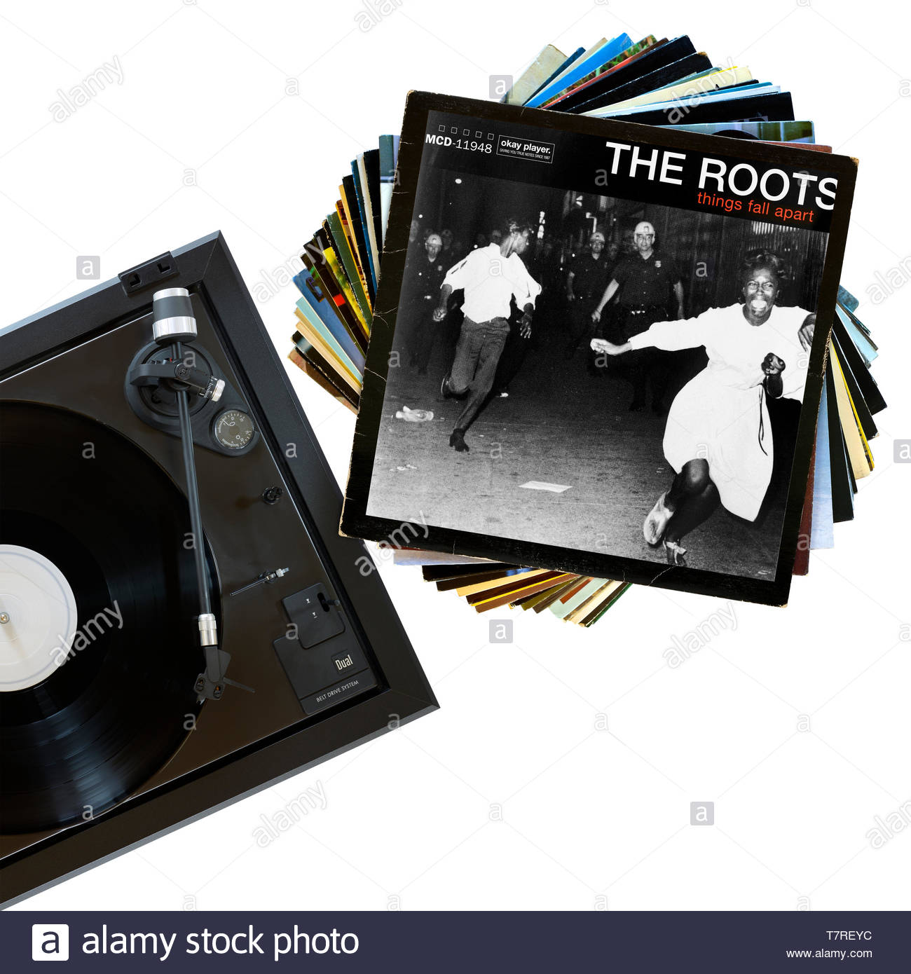 The Roots, Things Fall Apart album, record player and album, England Stock Photo