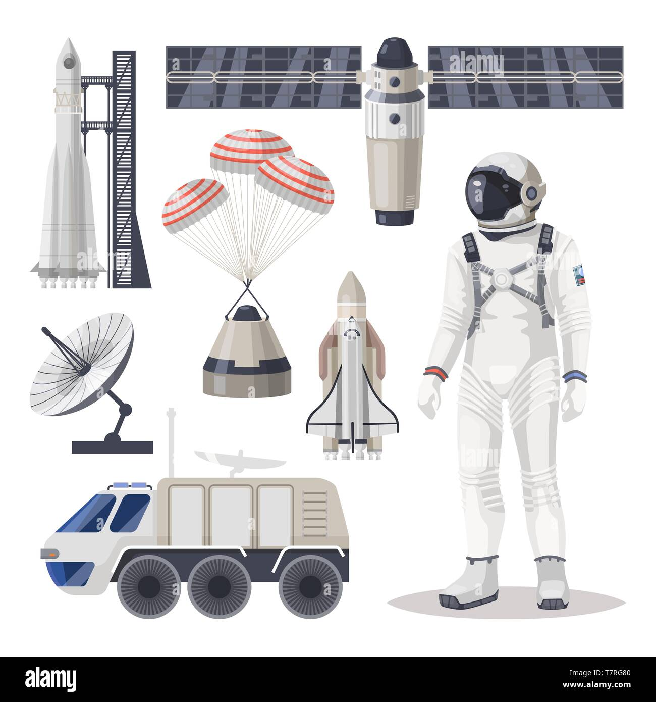 Space exploration, cosmos or Mars expedition item - Stock Image