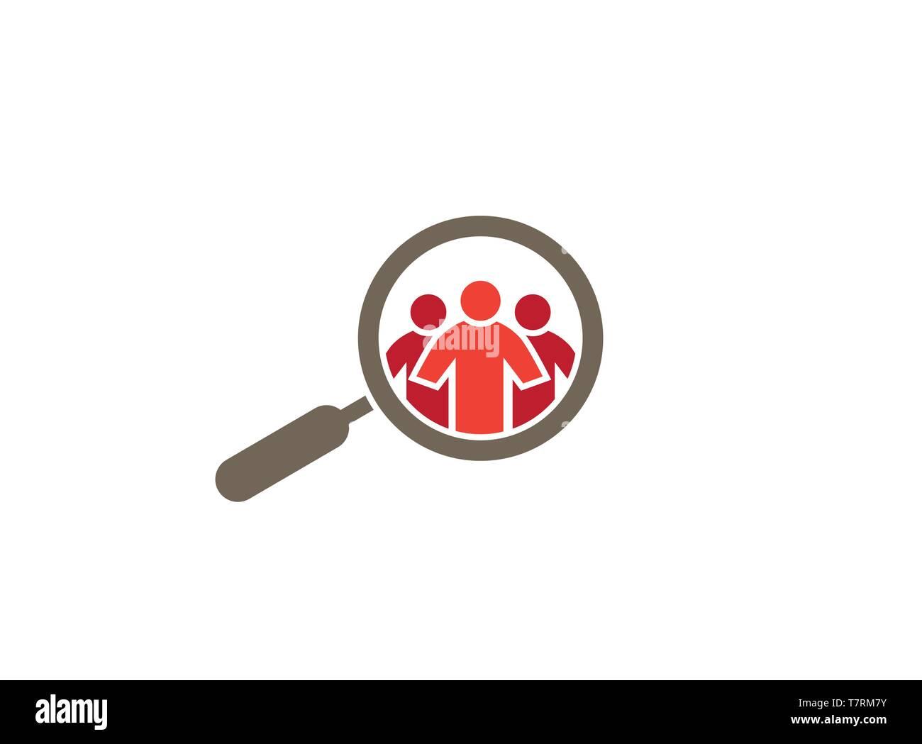 Loupe Spy on Peaple for logo - Stock Image