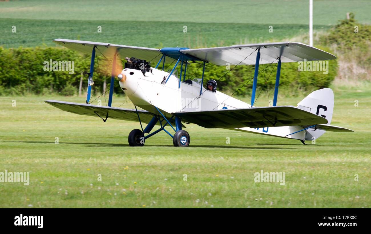 1928 de Havilland DH.60X Moth - Stock Image