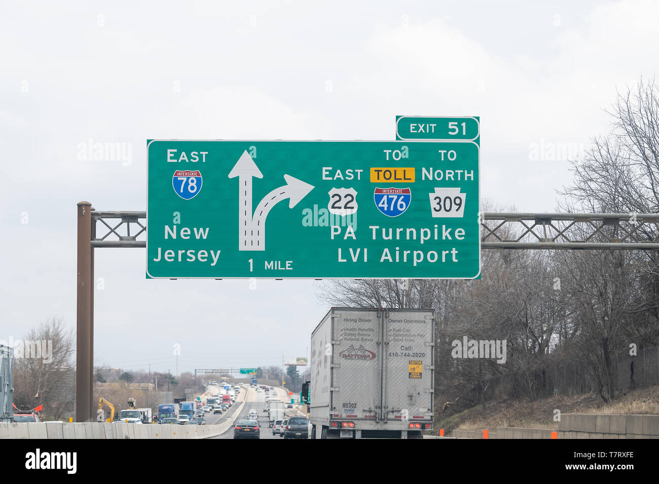 New Jersey Turnpike Stock Photos & New Jersey Turnpike Stock