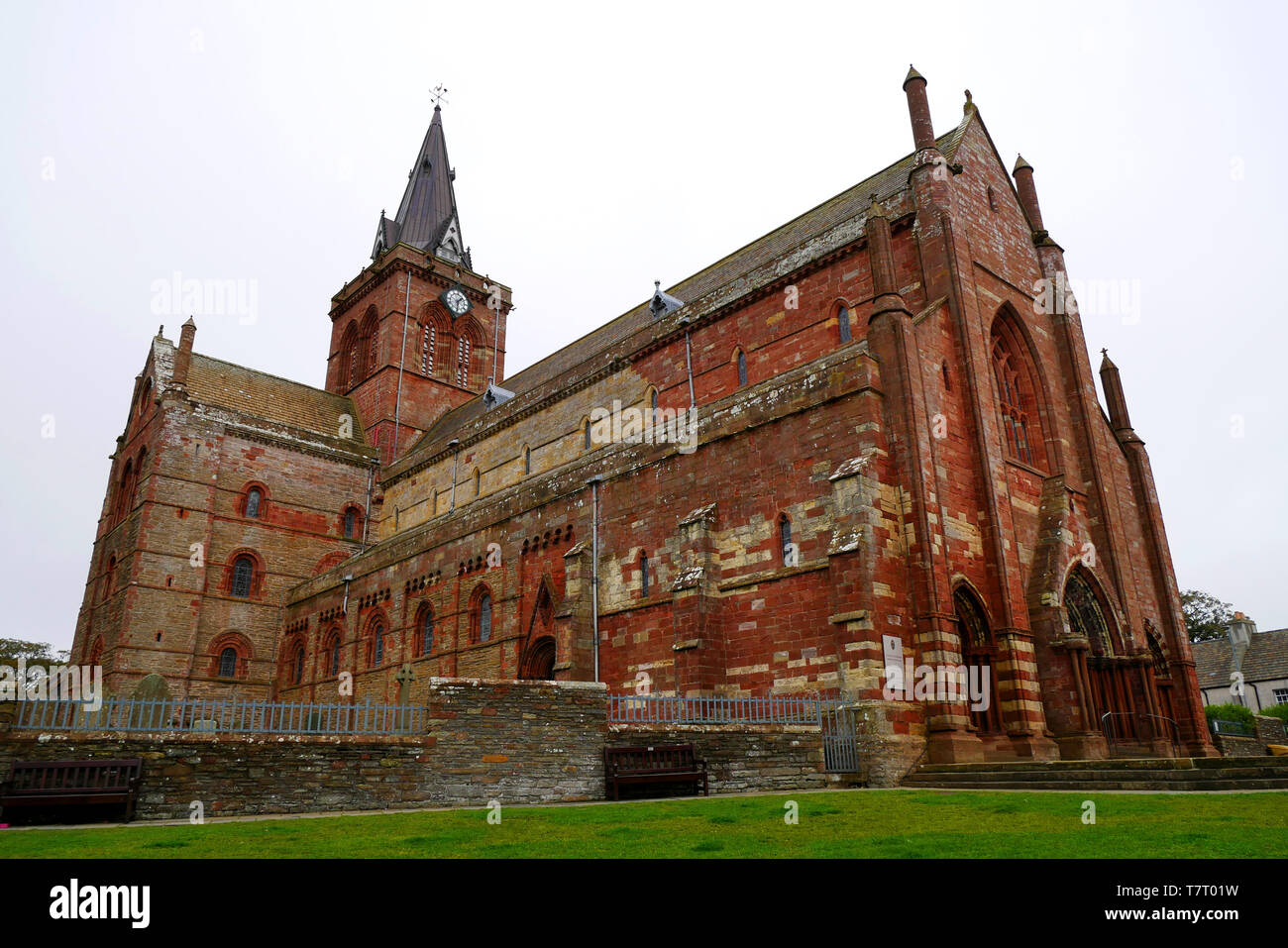 St. Magnus Cathedral, Kirkwall, Orkney, Scotland, UK Stock Photo