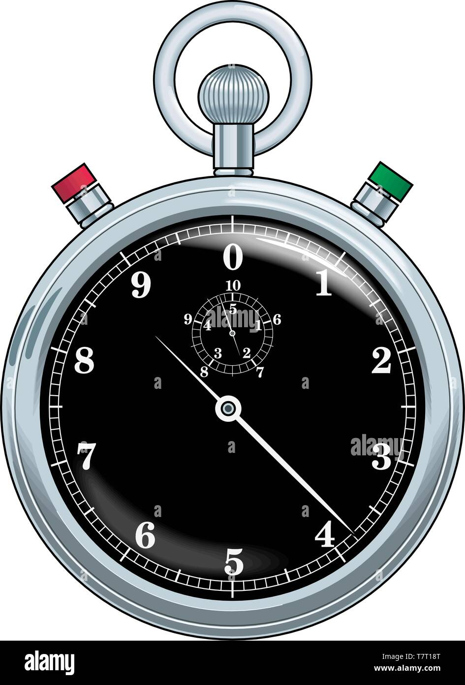 Stop Watch Vector Illustration - Stock Image