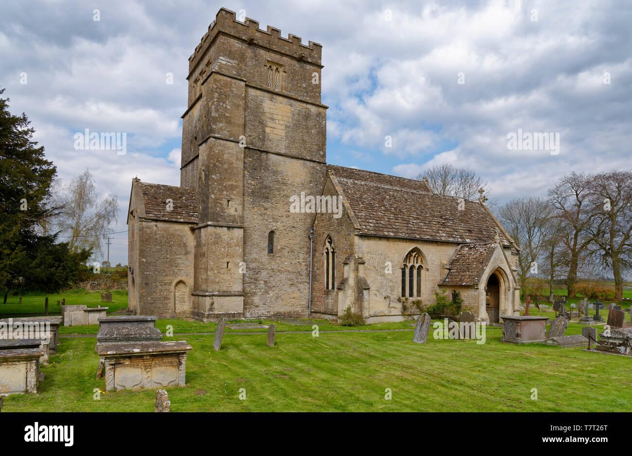 St Mary Magdelene Church, Tormarton, South Gloucestershire, UK  Grade I listed Norman Church Stock Photo