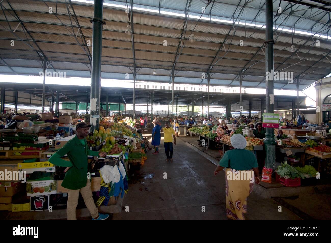 Maputo Central Market Stock Photo