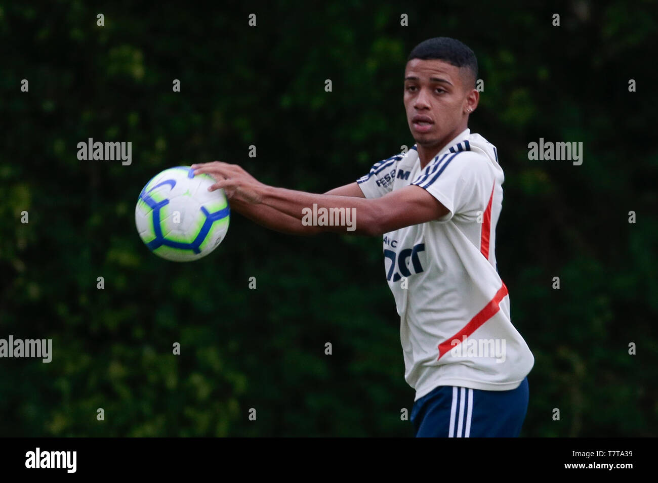 Sao Paulo, Brazil. 08th May, 2019. Training of Sao Paulo - Brenner during training of Sao Paulo at CT Barra Funda. Credit: AGIF/Alamy Live News - Stock Image
