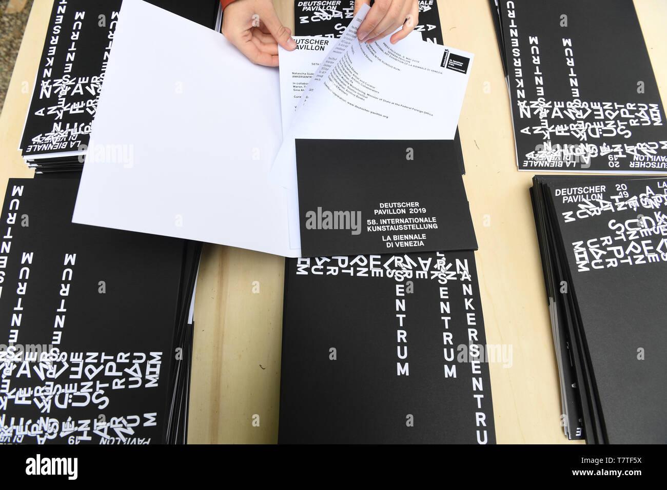 Venice, Italy  08th May, 2019  Press kits on the artist Natascha