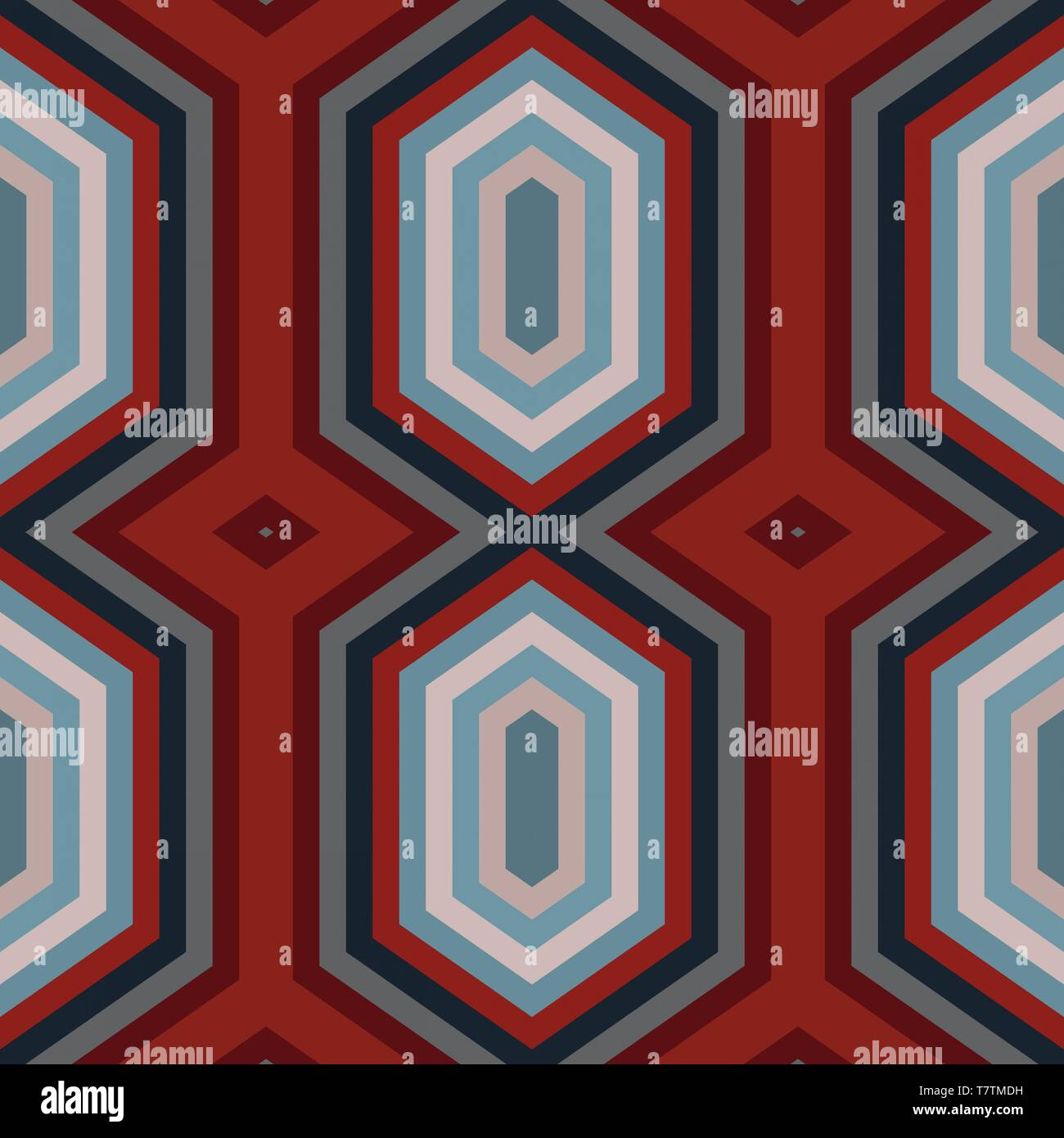 Abstract Hexagon Backdrop Style Old Mauve Dark Red And Silver