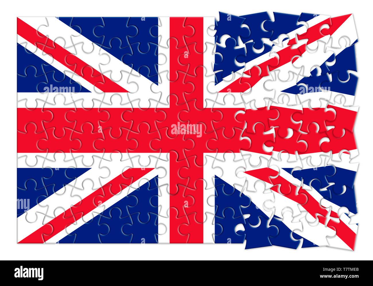 Rebuild england - concept image in puzzle shape Stock Photo