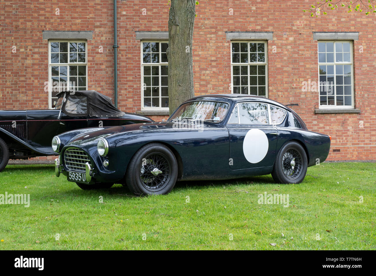 1957 AC Aceca car at Bicester Heritage centre 'Drive it day'. Bicester, Oxfordshire, England - Stock Image