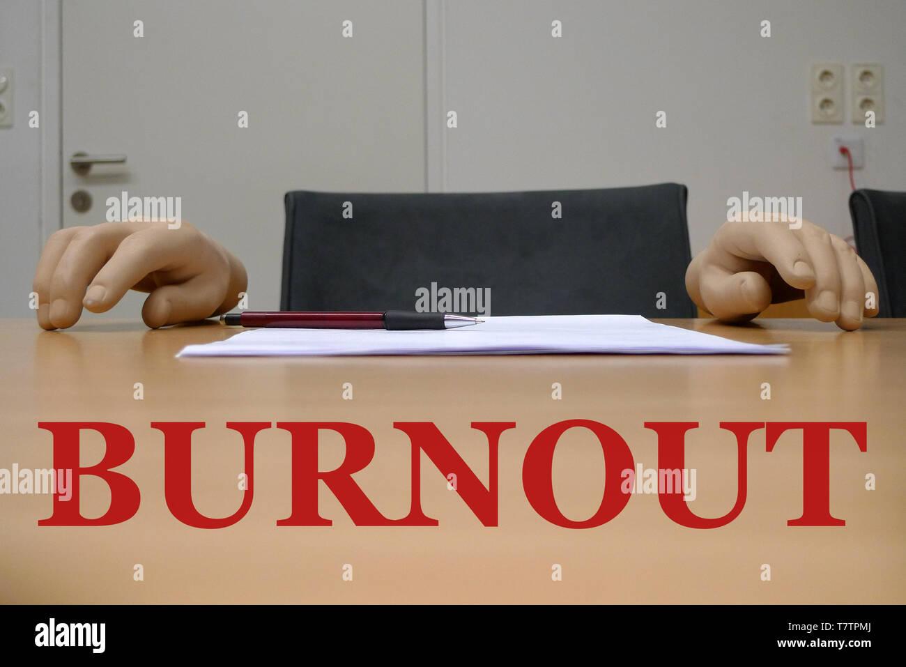 BURNOUT or BLANK SHEET - Stock Image