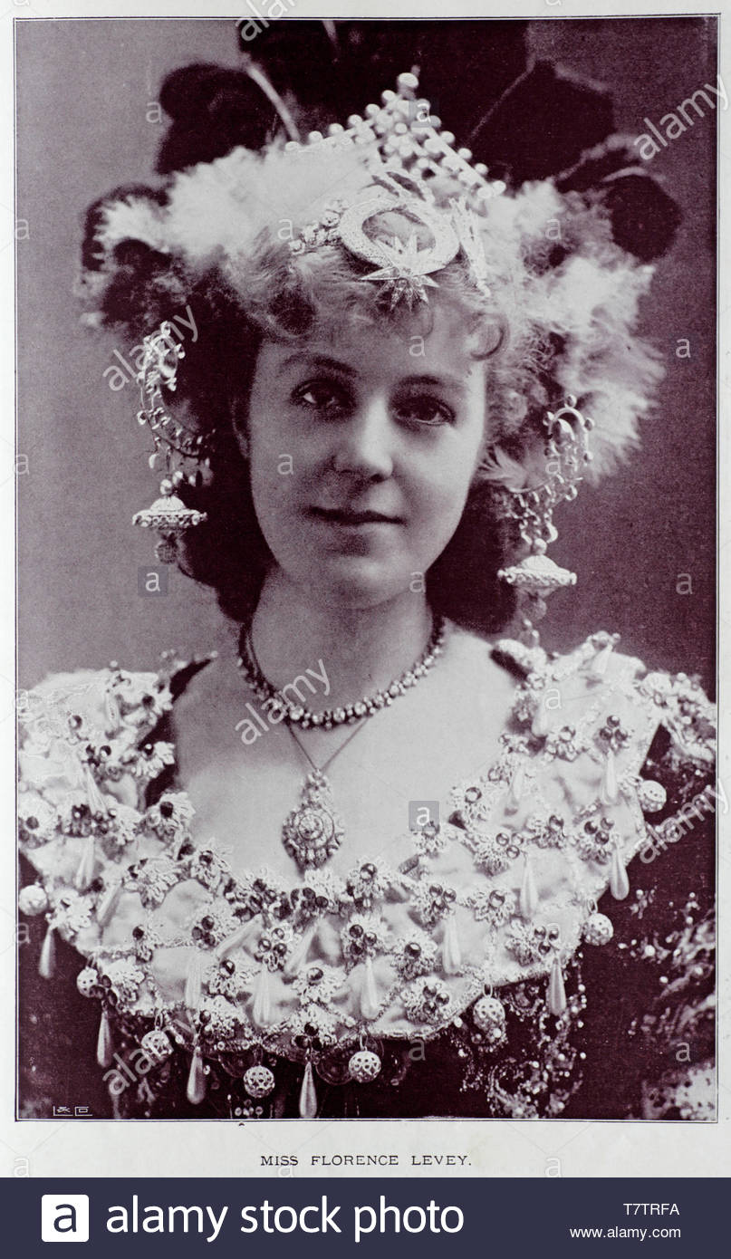 Florence Levey, English actress, photograph from the 1890s - Stock Image
