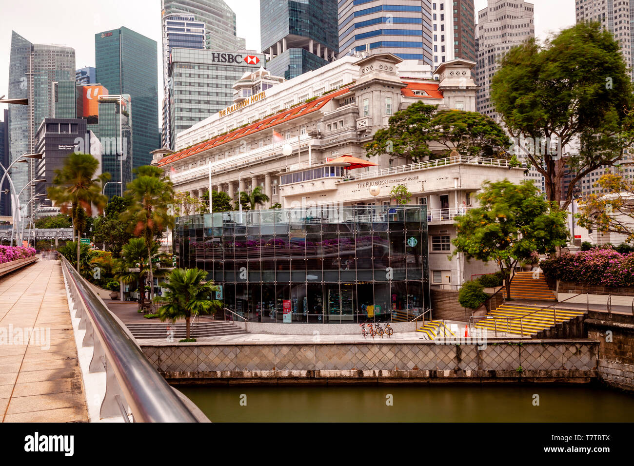 The Fullerton Hotel, Singapore, South East Asia - Stock Image