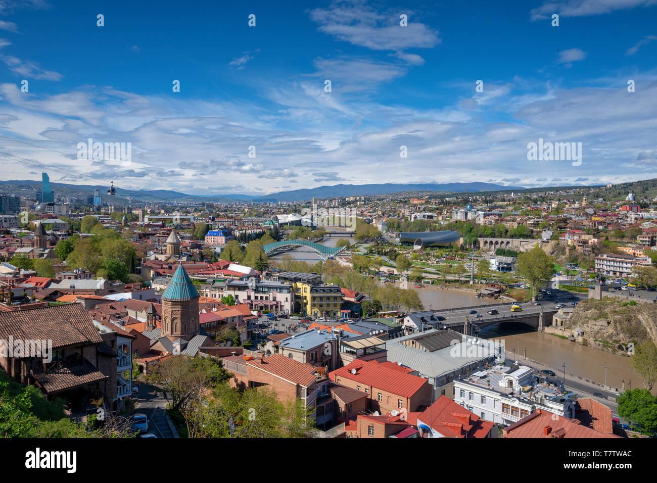 The cityscape of Tbilisi in Georgia Stock Photo