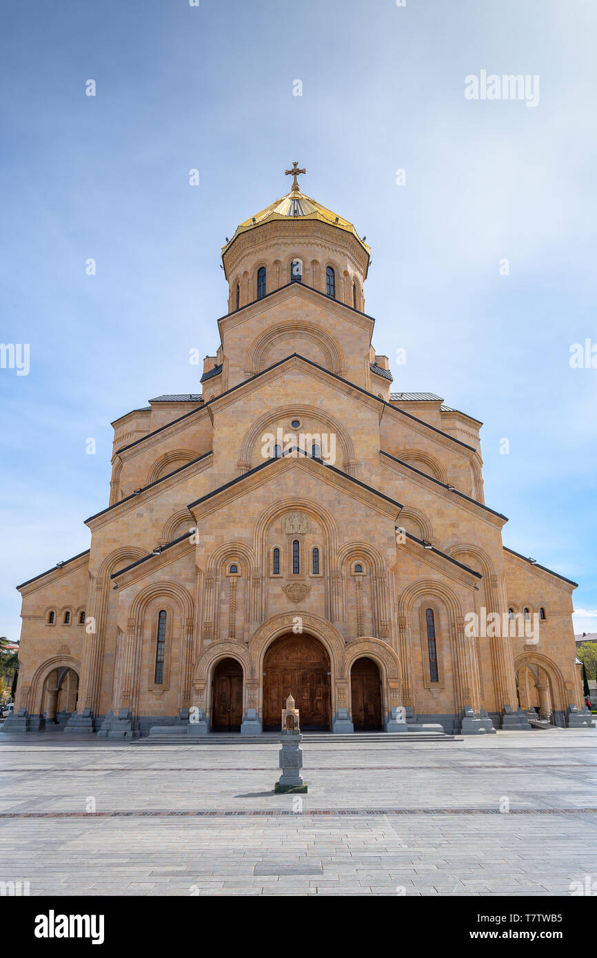 The Holy Trinity Cathedral of Tbilisi (Tsminda Sameba Church) Georgia Stock Photo