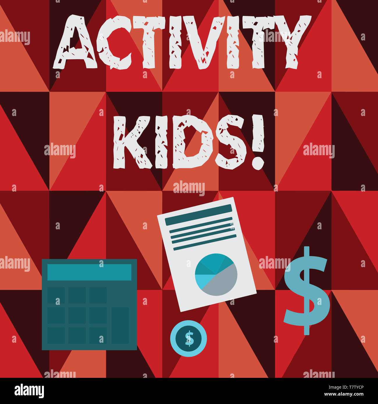 Conceptual hand writing showing Activity Kids. Concept meaning form of organized supervised often extracurricular recreation Dollar Investment in Gold - Stock Image