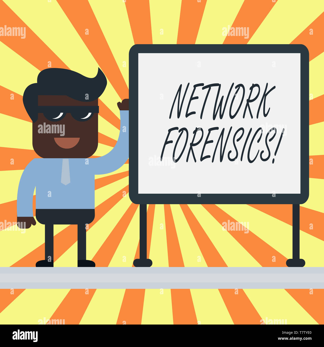 Text sign showing Network Forensics. Business photo showcasing monitoring and analysis of computer network traffic - Stock Image