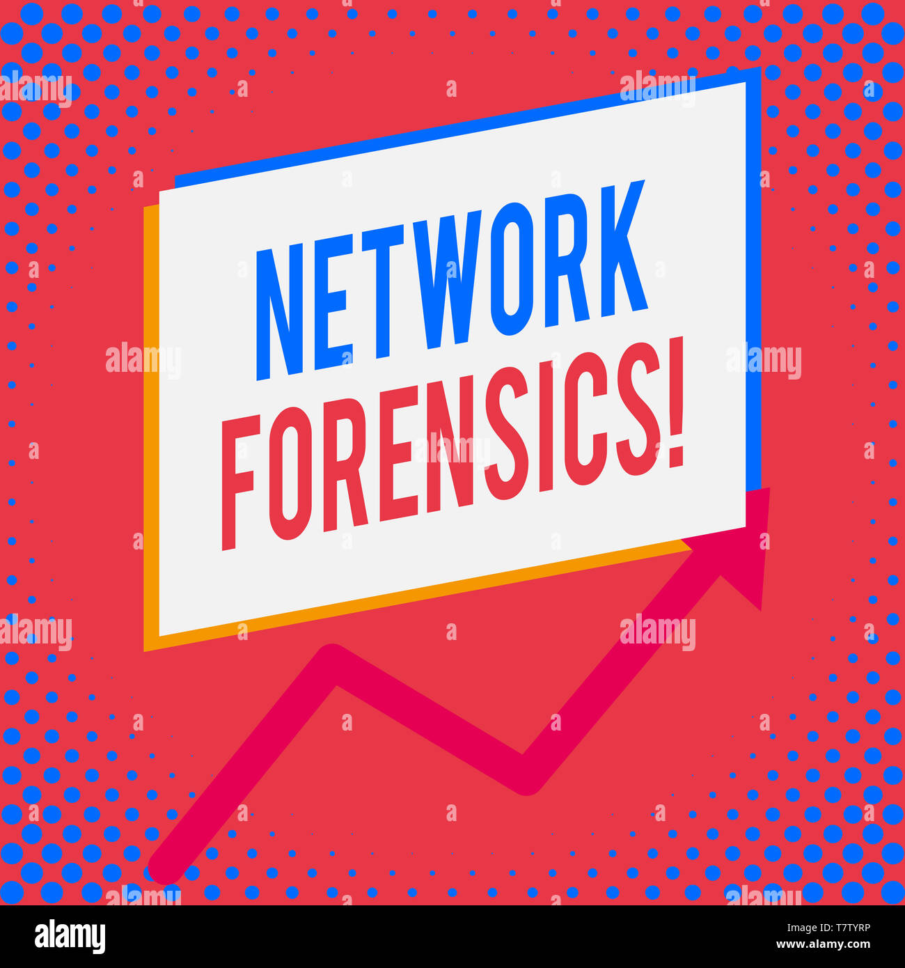 Word writing text Network Forensics. Business photo showcasing monitoring and analysis of computer network traffic - Stock Image