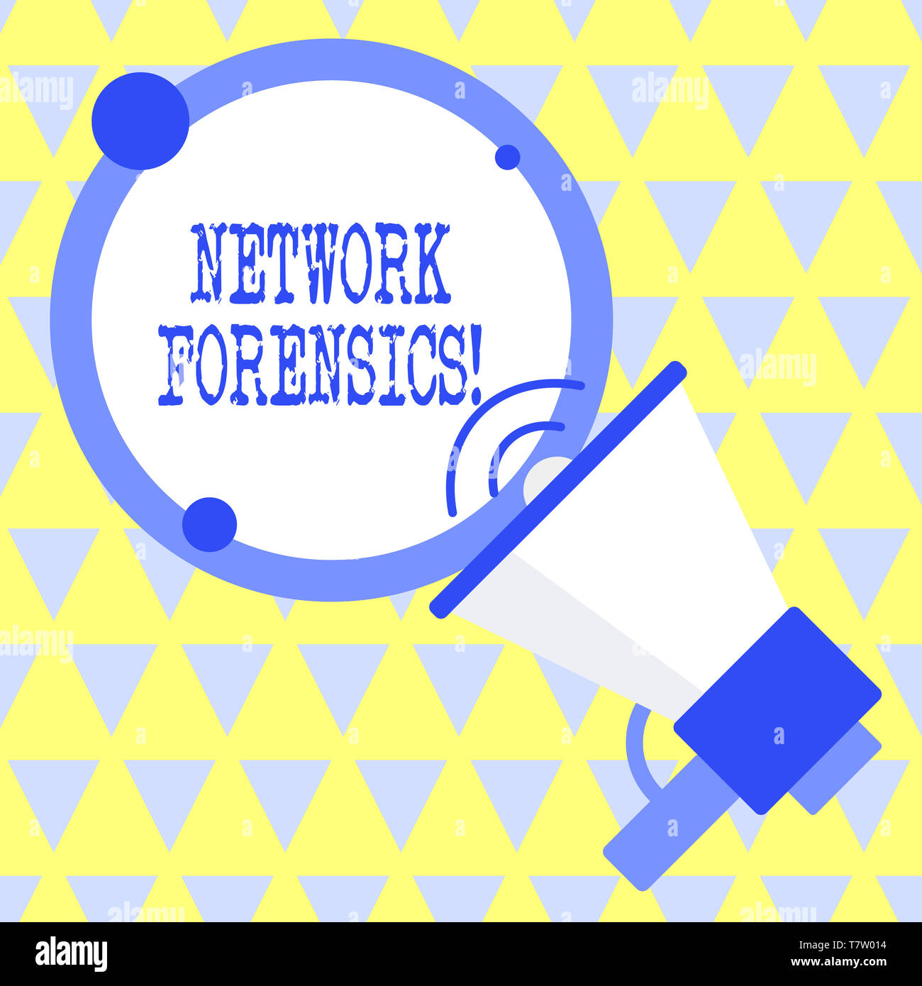 Text sign showing Network Forensics. Business photo text monitoring and analysis of computer network traffic - Stock Image