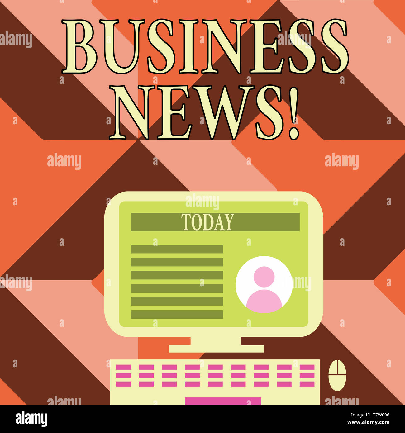 Writing note showing Business News  Business concept for