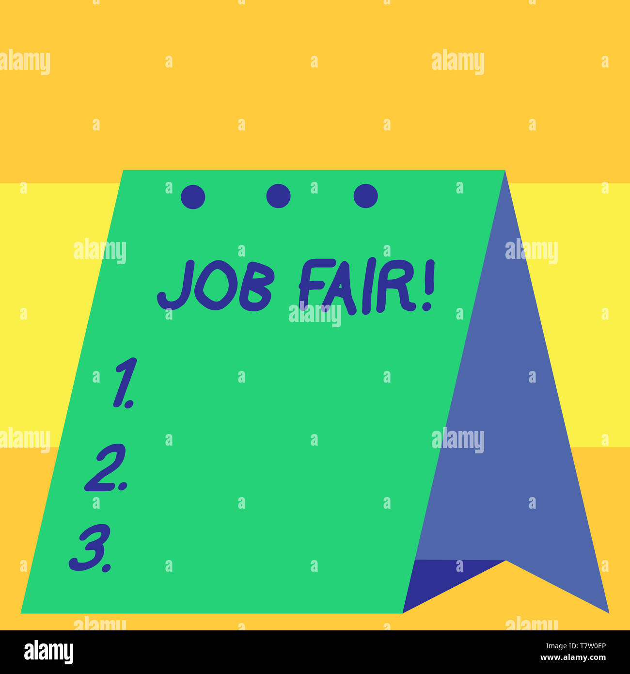 Word writing text Job Fair. Business photo showcasing event in which employers recruiters give information to employees - Stock Image