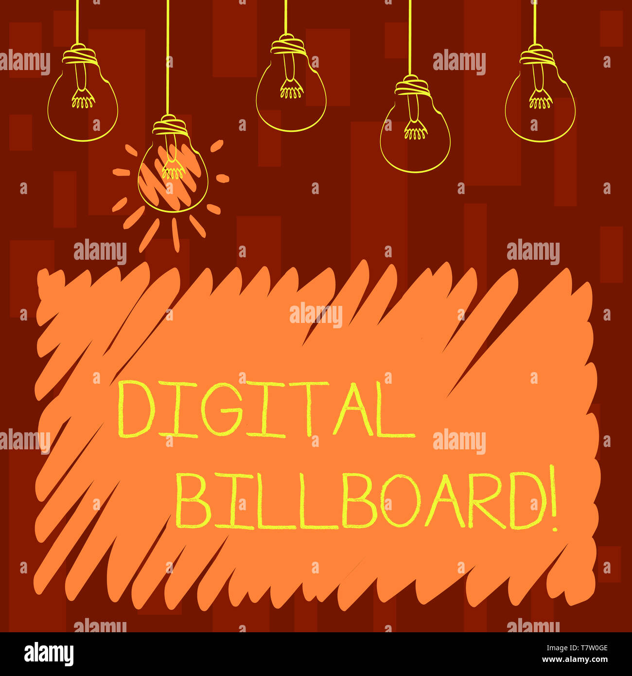 Text sign showing Digital Billboard  Business photo