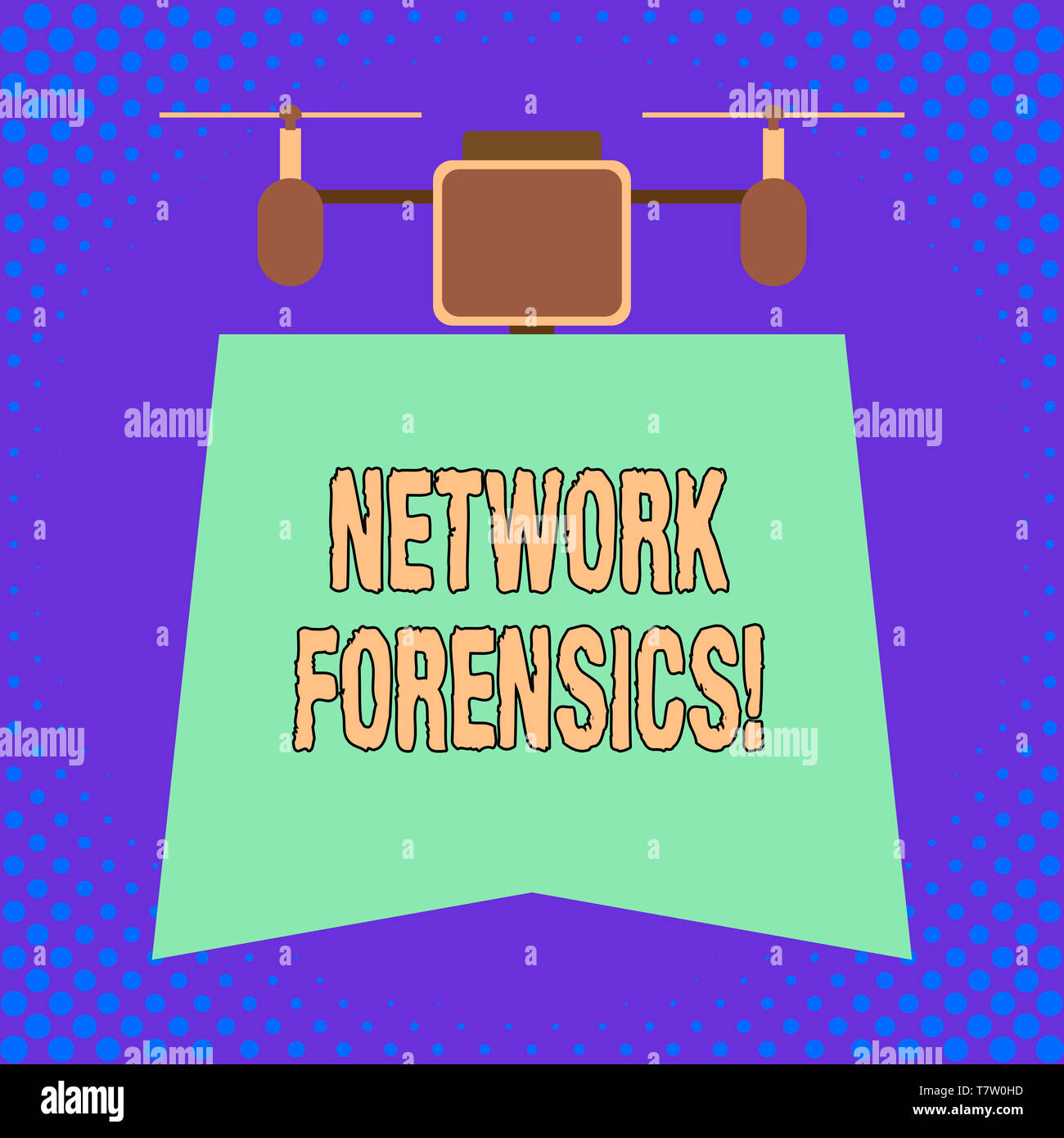 Conceptual hand writing showing Network Forensics. Concept meaning monitoring and analysis of computer network traffic - Stock Image