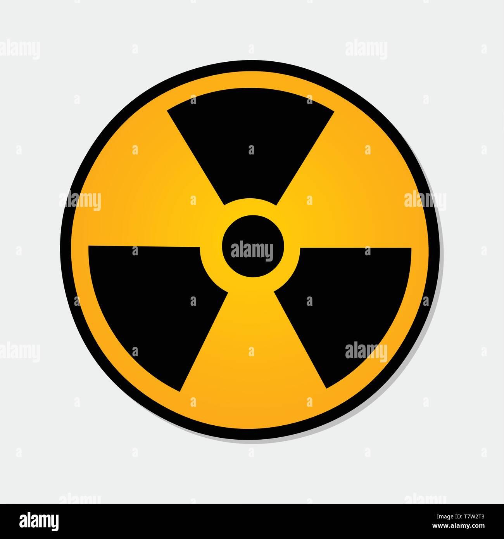 radiation symbol vector illustration - Stock Image