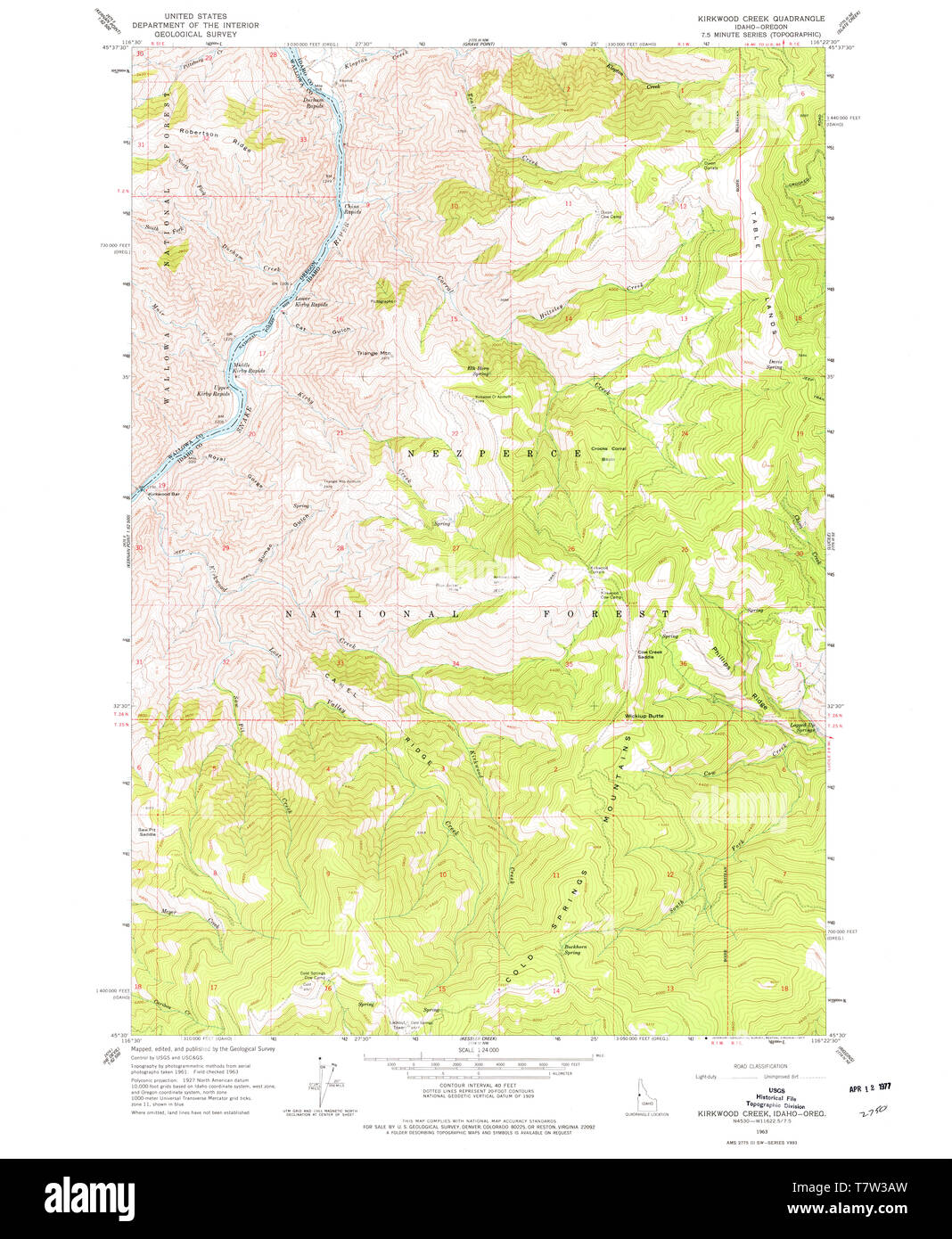 USGS TOPO Map Idaho ID Kirkwood Creek 236784 1963 24000 Restoration Kirkwood Map on raytown map, st. louis city map, wildwood missouri map, clayton map, kirksville map, greenville map,