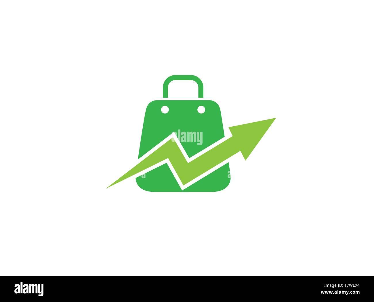 Briefcases a handbag for shopping with check mark for logo design illustration - Stock Vector