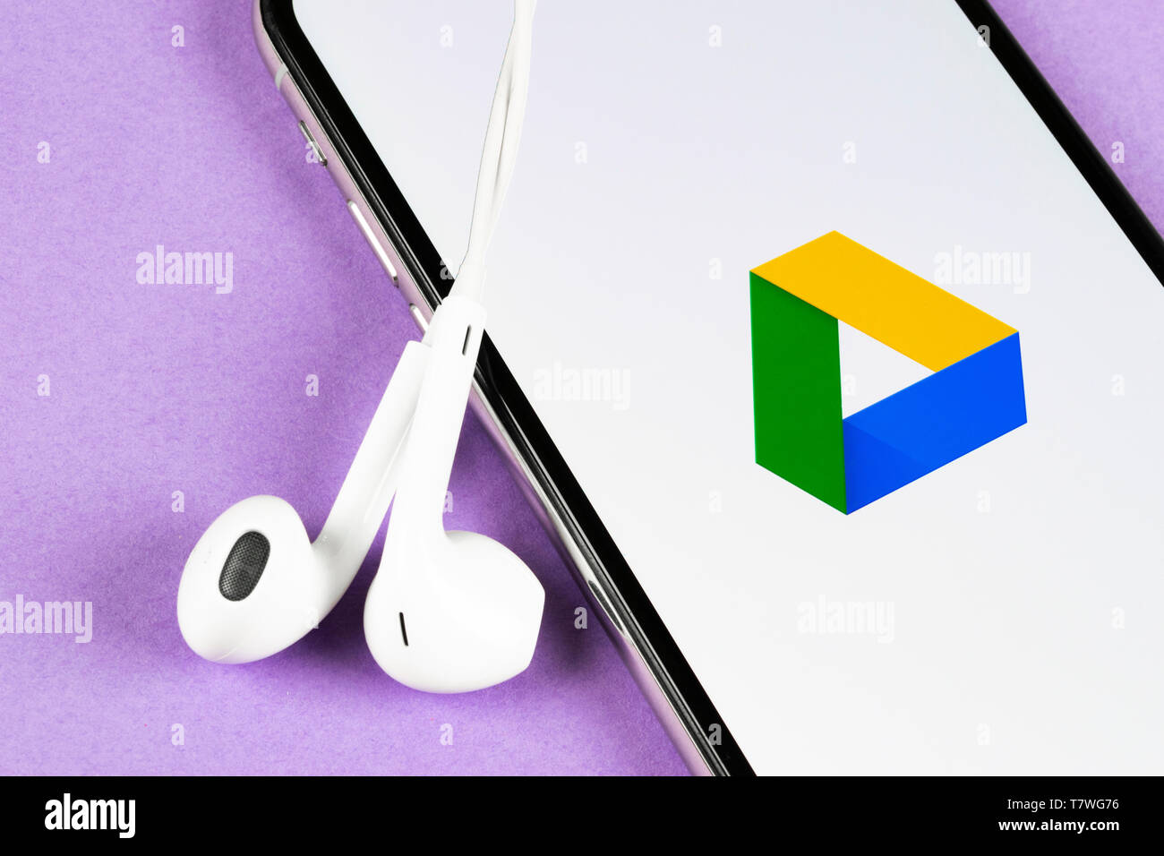 Helsinki, Finland, May 4, 2019: Google Drive application