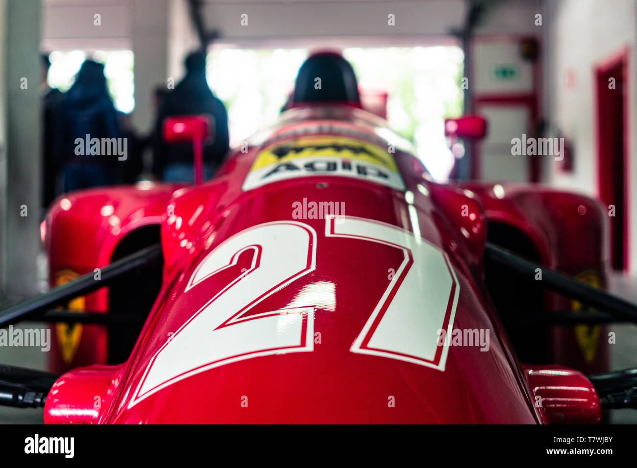 a front view of Alain Prost's Ferrari Stock Photo