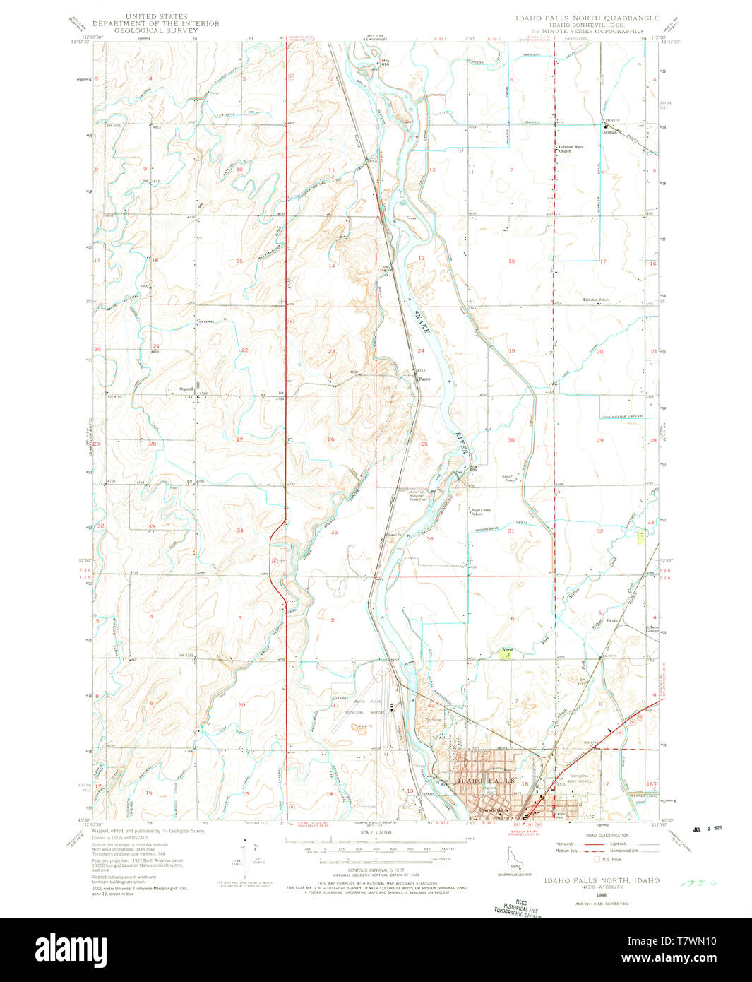 USGS TOPO Map Idaho ID Idaho Falls North 236616 1948 24000 ... Idaho Falls Map on wood river valley map, city of rocks national reserve map, butte map, missoula map, boise map, atomic city map, lake pend oreille map, idaho lakes and reservoirs map, shoshone idaho map, hot springs idaho map, pocatello map, riggins map, donnelly id map, sun valley idaho map, west yellowstone idaho map, hells canyon wilderness map, camas county map, twin falls id map, southeast idaho map, snake river idaho map,