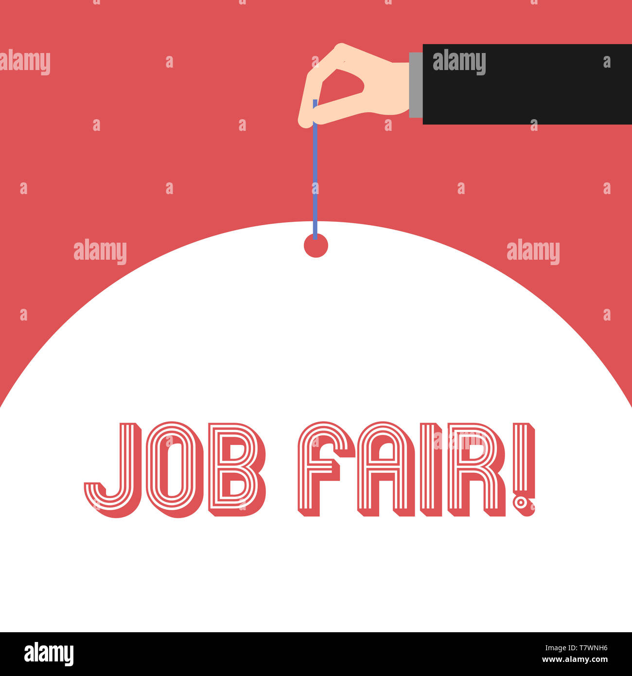 Handwriting text Job Fair. Conceptual photo event in which employers recruiters give information to employees - Stock Image