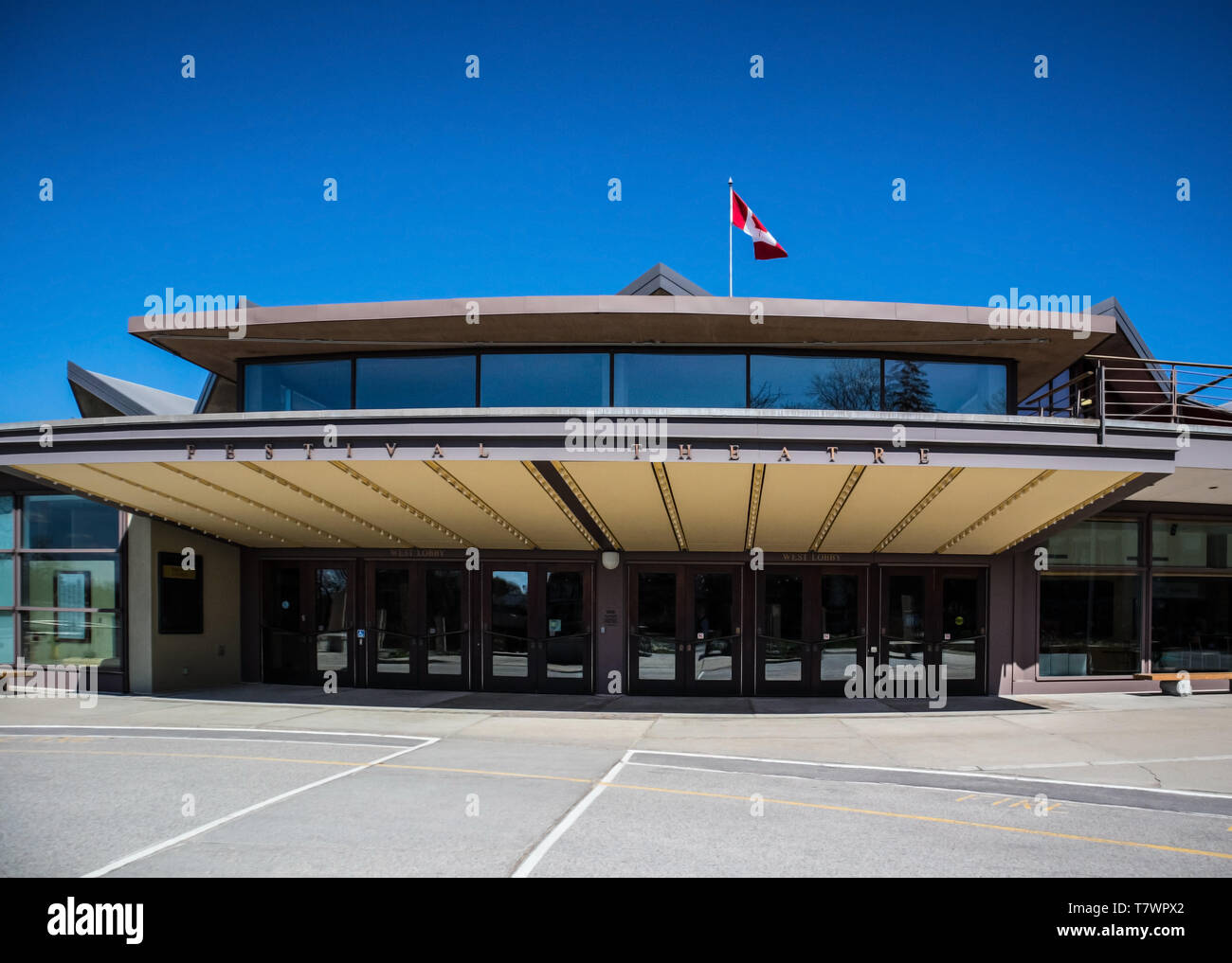 The entrance at Festival Theatre in Stratford, Ontario, Canada. - Stock Image