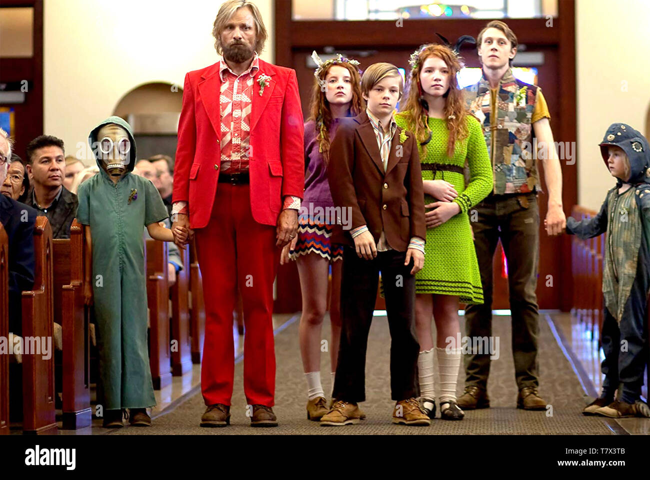 CAPTAIN FANTASTIC 2016 Electric City Entertainment film with Viggo Mortensen as Bern - Stock Image