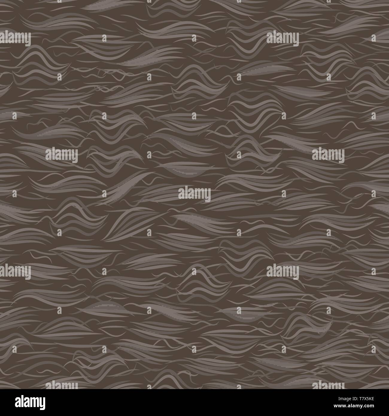 The texture of the brown fur. Seamless pattern background. Vector illustration. - Stock Vector