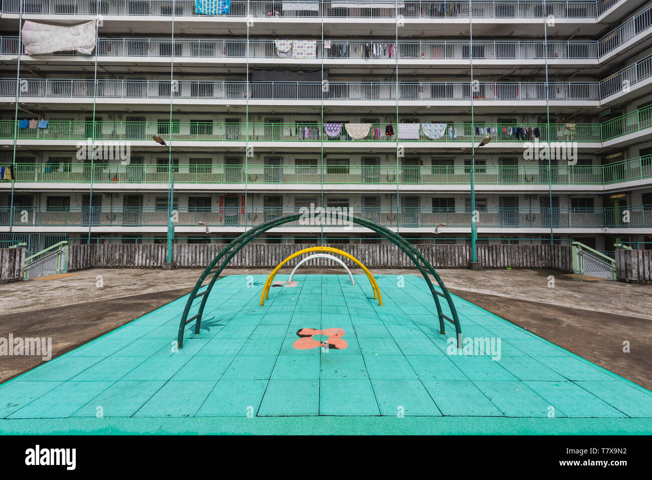 Public Housing in Hong Kong, China. - Stock Image