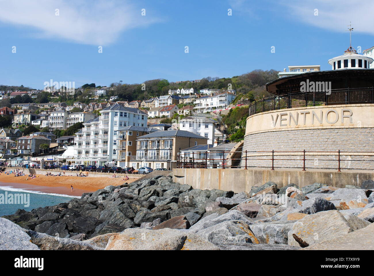 Ventnor Seafront, Isle of Wight, UK - Stock Image