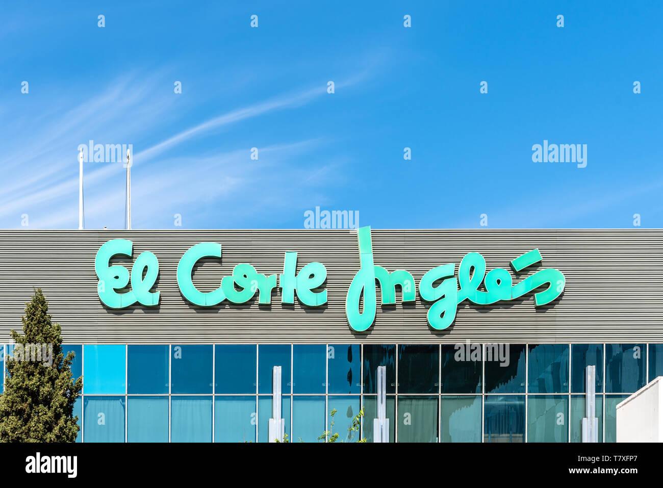 Madrid, Spain - May 1, 2019: El Corte Ingles department store in Castellana, Madrid. El Corte Ingles is one of the biggest department store group in t Stock Photo