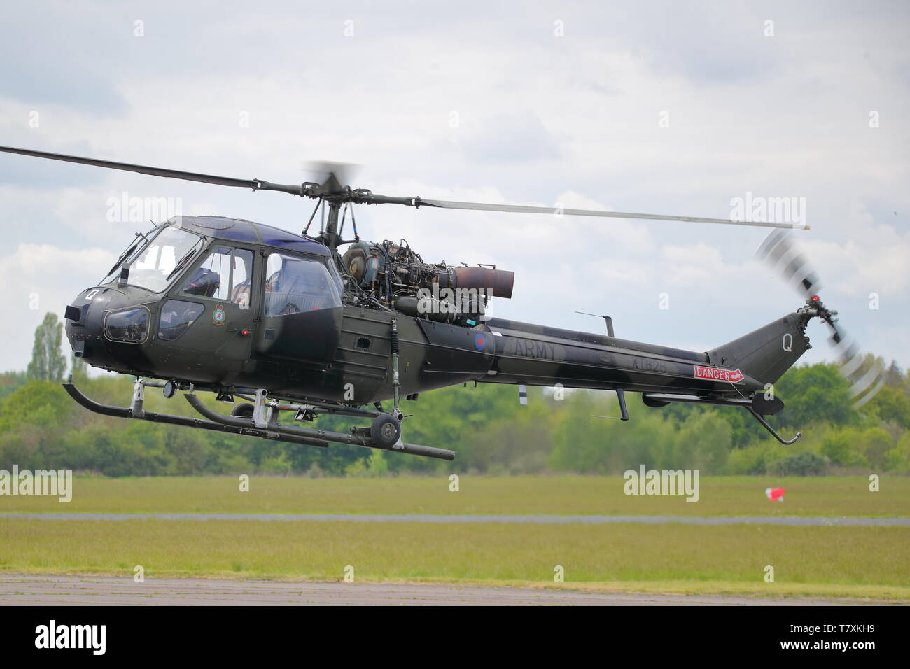 Westland Scout XT626 helicopter at Abingdon Air & Country Show, Abingdon, UK - Stock Image