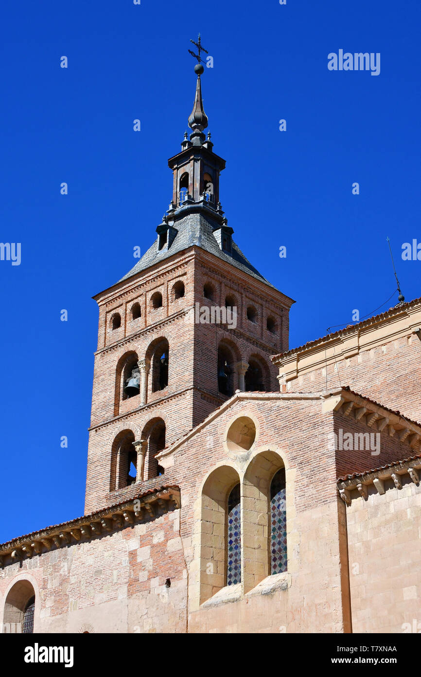 Church of San Martín, Iglesia de San Martín, Segovia, Castilla y León, Spain Stock Photo