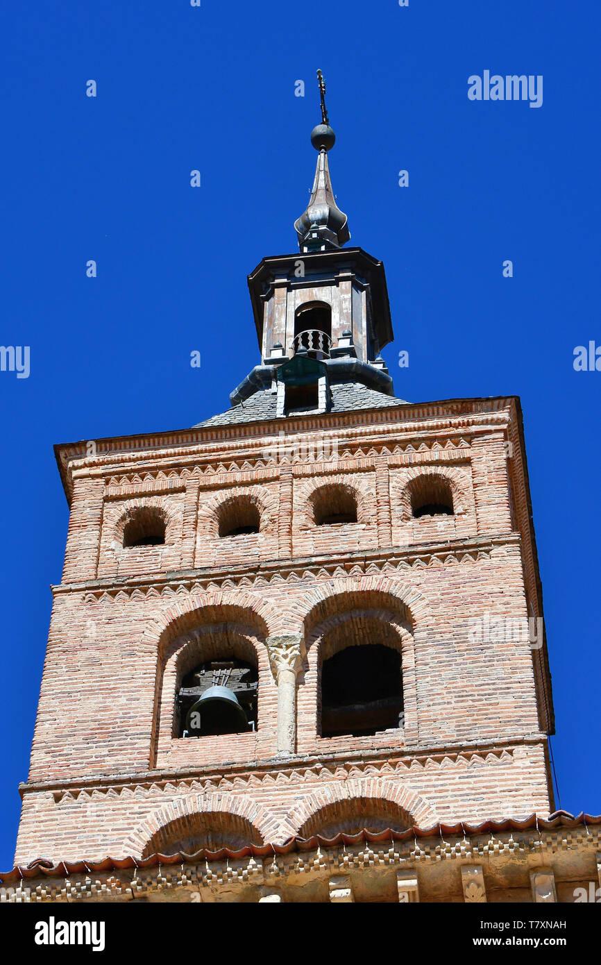 Church of San Martín, Iglesia de San Martín, Segovia, Castilla y León, Spain Stock Photo