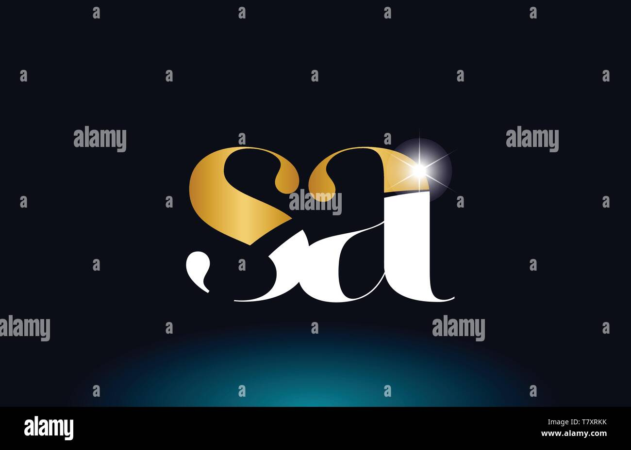 gold golden alphabet letter sa s a logo icon combination design suitable for a company or business - Stock Vector