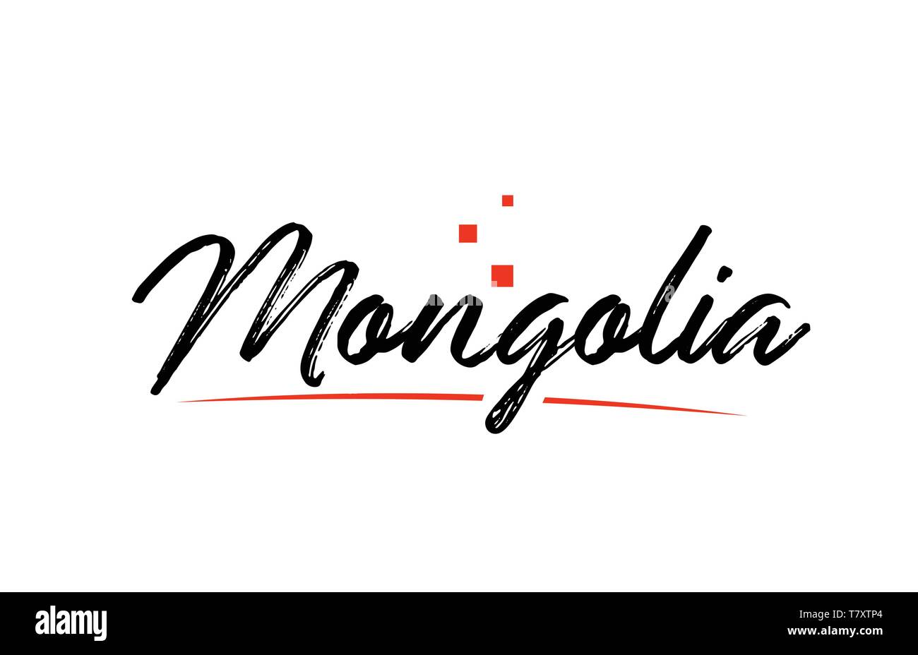 Mongolia country typography word text suitable for logo icon design - Stock Vector
