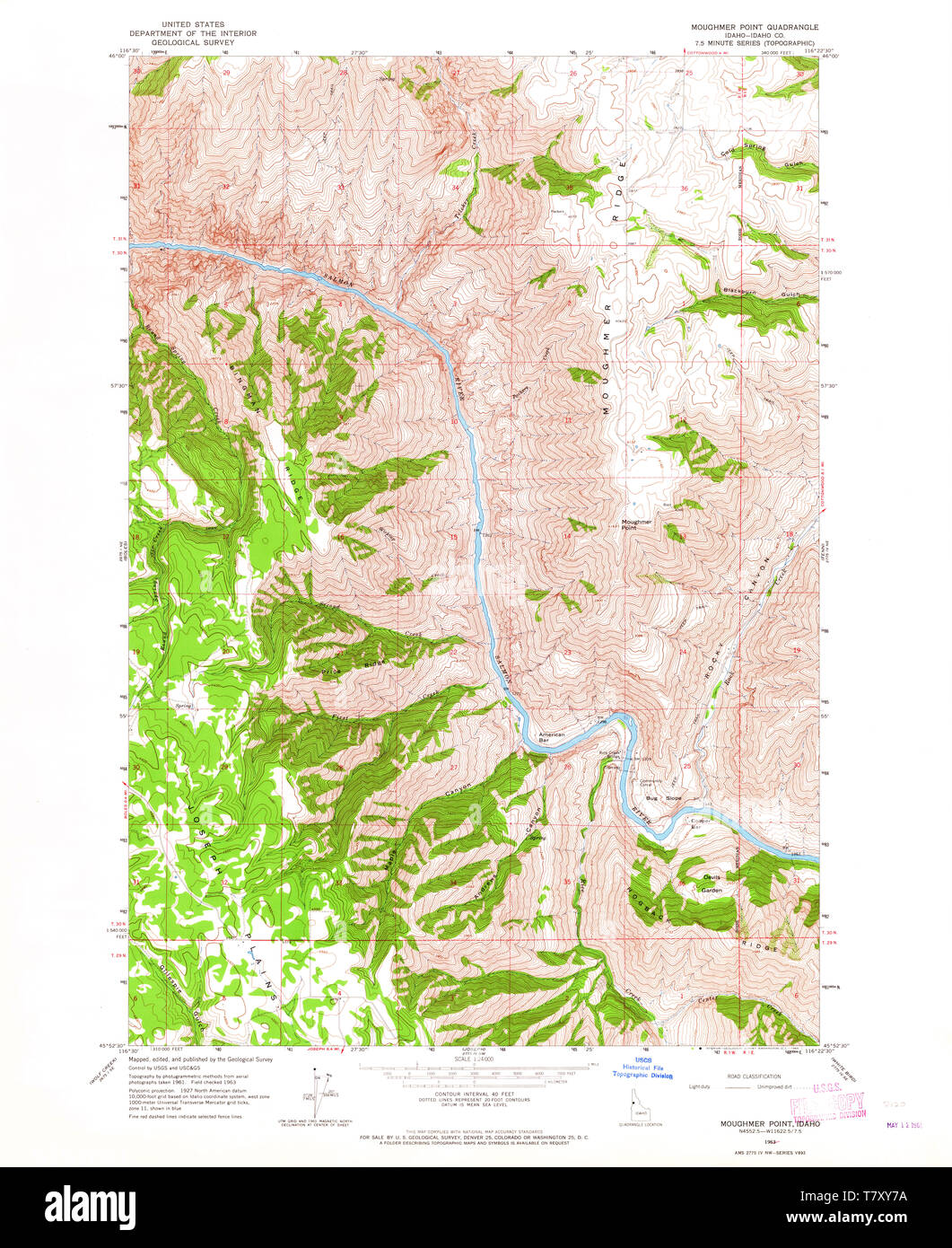 USGS TOPO Map Idaho ID Moughmer Point 237273 1963 24000 ...