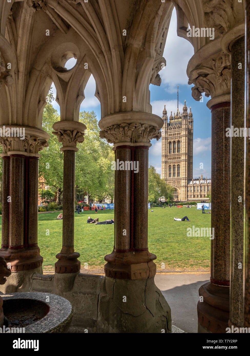 Buxton Memorial Fountain, by Charles Buxton and Samuel Sanders Teulon, celebrating the emancipation of slaves in the British Empire in 1834, Victoria  Stock Photo