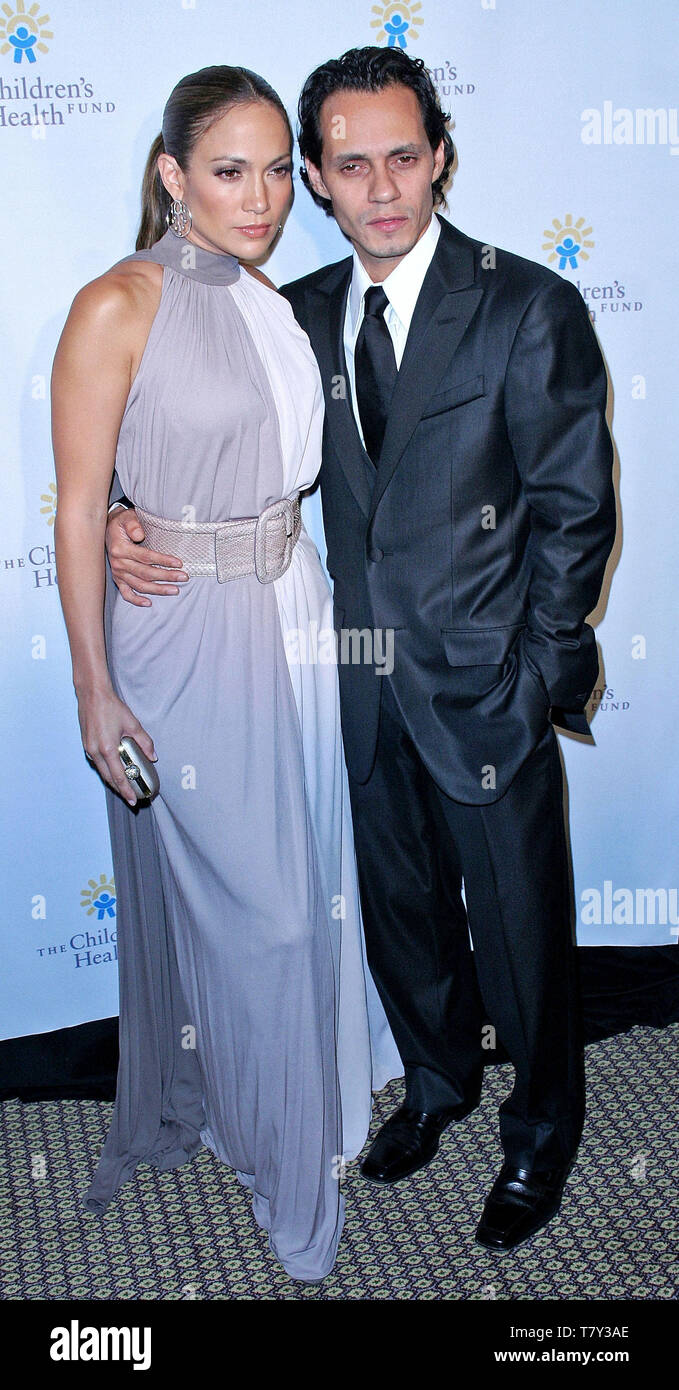 New York, USA. 30 May, 2007. Jennifer Lopez, Marc Anthony at the 20th Anniversary Children's Health Fund Gala Dinner at the New York Hilton. Credit: Steve Mack/Alamy Stock Photo