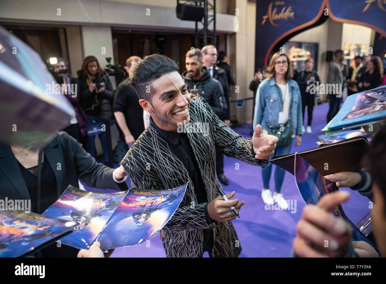 Paris, France. May 8 2019. Mena Massoud, Paris. Premiere of Aladdin, Grand Rex. - Stock Image